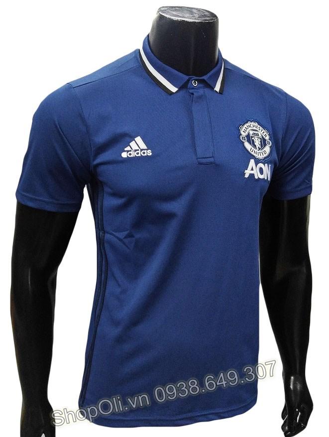 Áo polo Manchester United xanh đen 2016-2017 (Liên hệ) 8e6e9d857bf