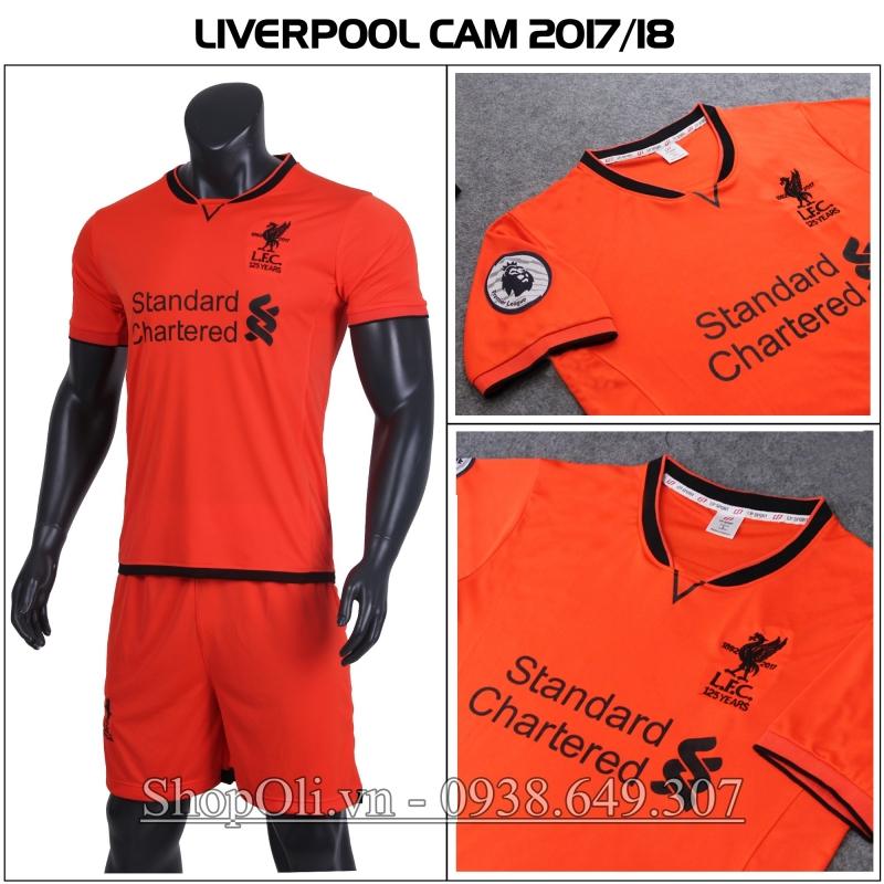 Đồ đá banh Liverpool cam sân khách 2017-2018